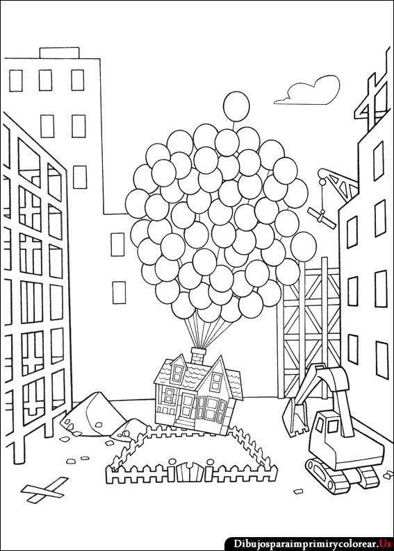 Dibujos de Up - Una Aventura de Altura para Imprimir y Colorear ...