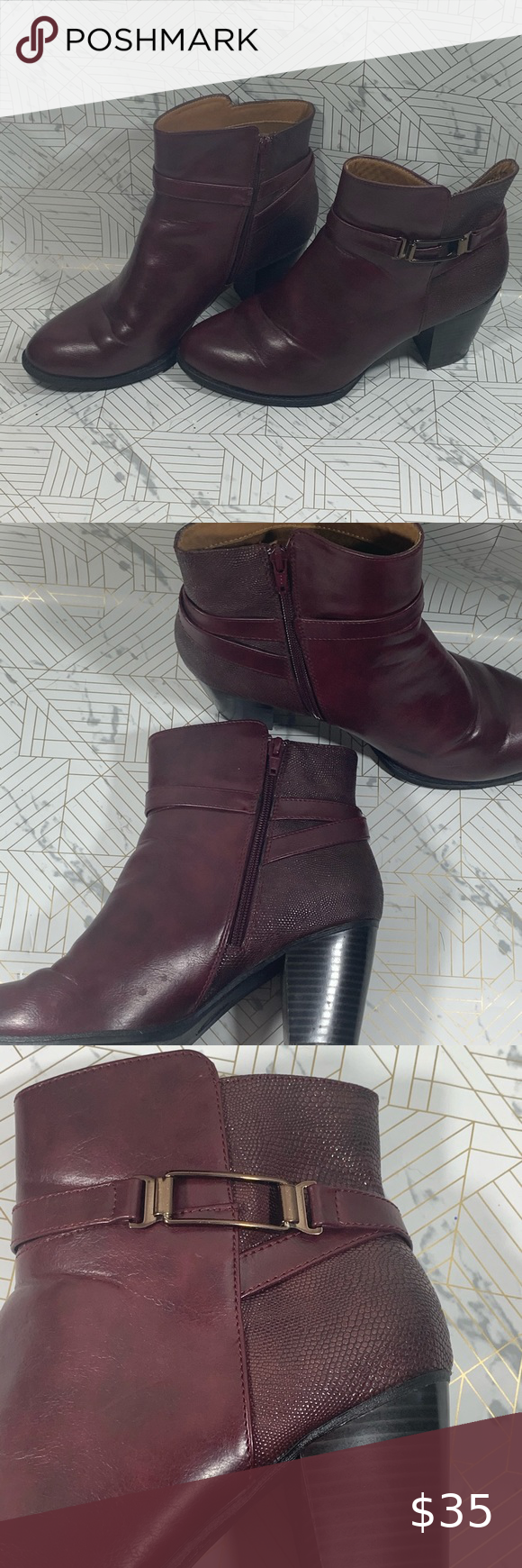 Burgundy ankle boots - Cloud Walkers