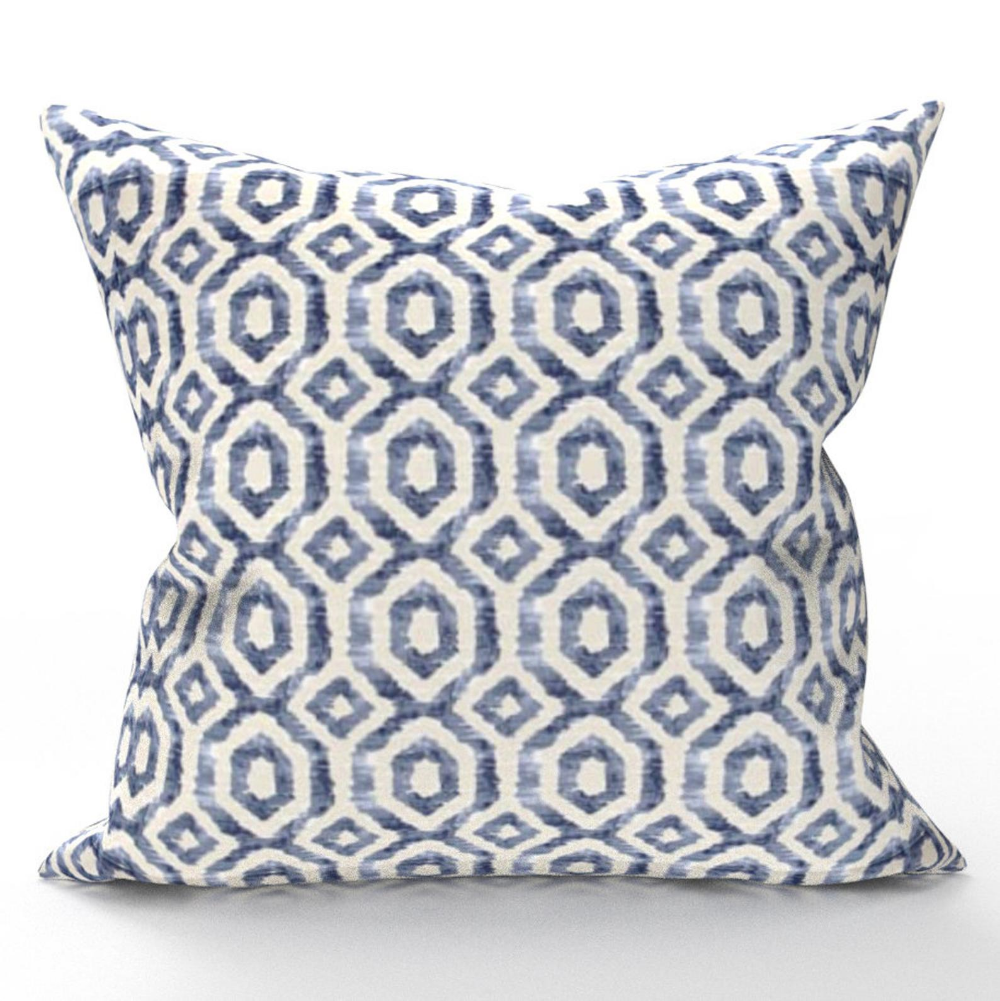 Decorative Throw Pillow Cover Blue White Diamond Geometric Print Pillow Geometric Throw Pillow Designer Pillow Home Decor In 2020 Decorative Throw Pillows Pillows Throw Pillows