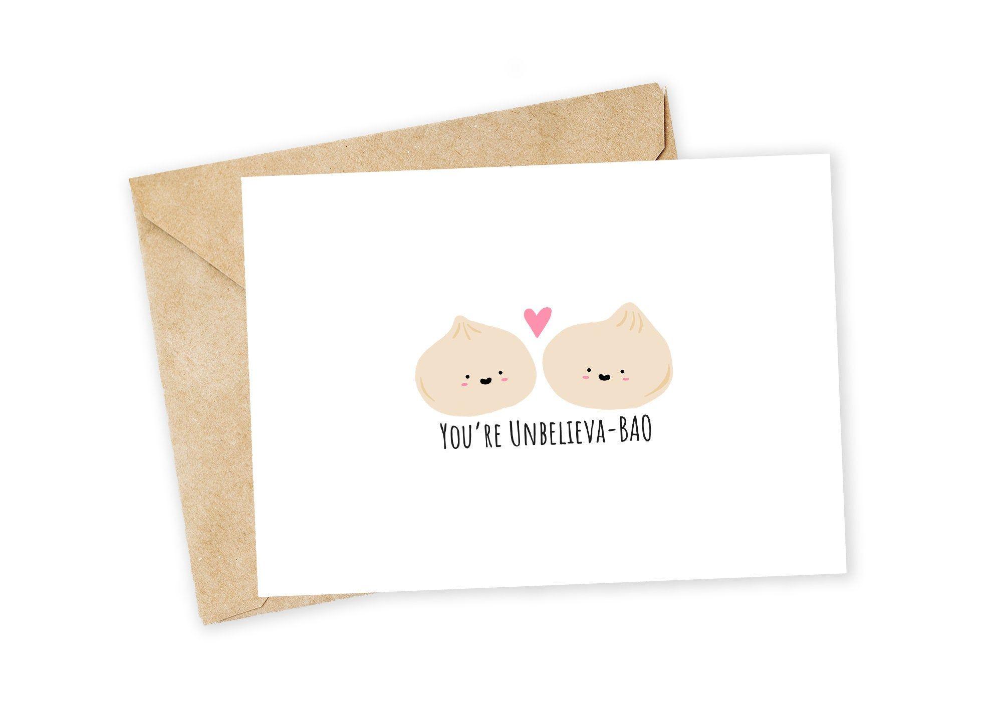 Have a BUN Birthday! Food Pun Birthday Cards Bun  Bao