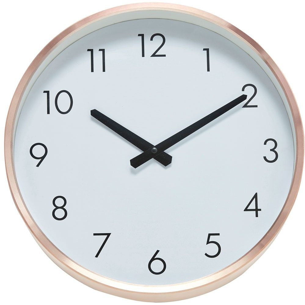 horloge murale scandinave en cuivre hubsch ma nouvelle maison clock kitchen wall clocks et. Black Bedroom Furniture Sets. Home Design Ideas