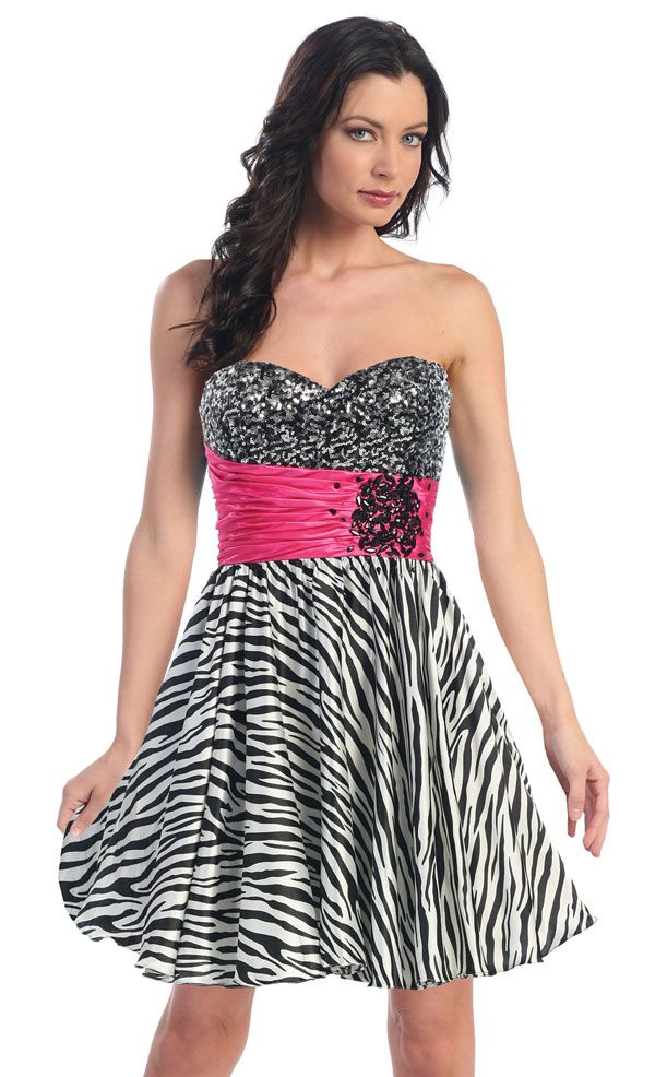 1000  images about zebra print prom dress on Pinterest | Satin ...