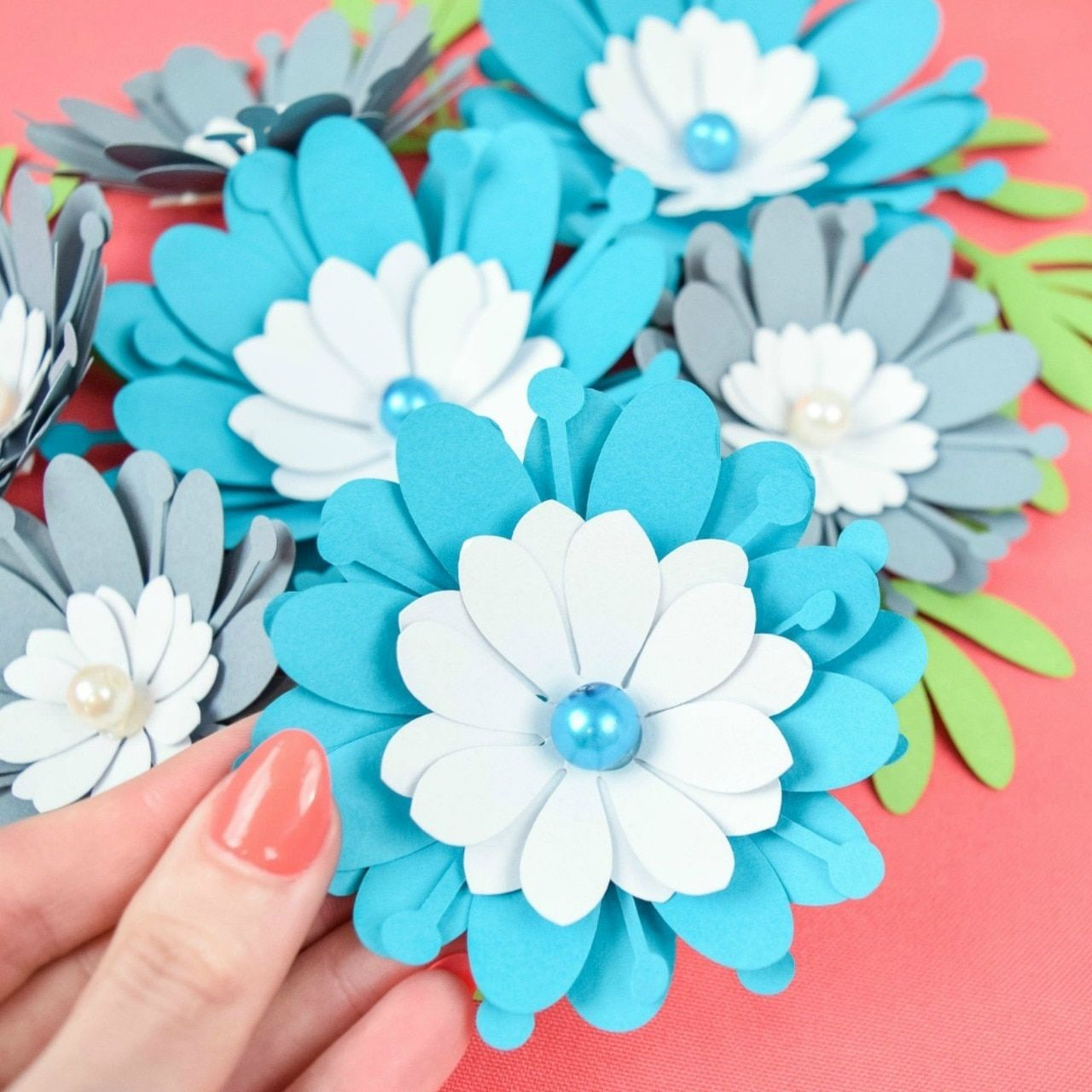 Small Clementine Paper Flower Template Flower template