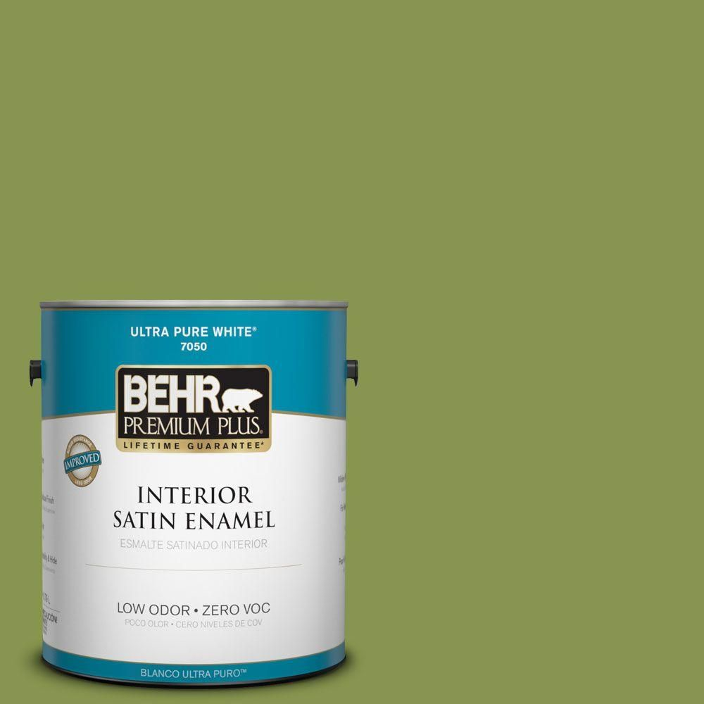 Charming #410D 5 Scotland Isle Zero VOC Satin Enamel Interior Paint, Greens