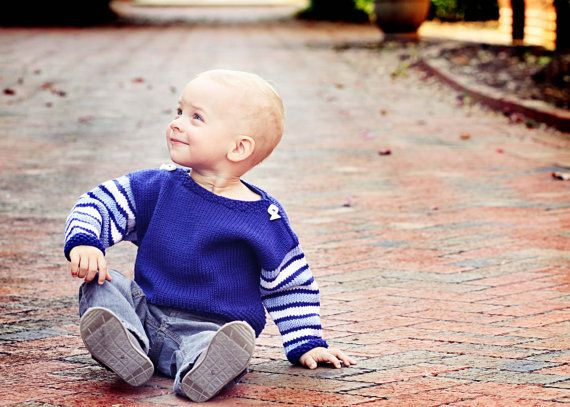 Hand Knit Baby Sweater Boys  HARRISON STREET  by YellowHouseKnits,