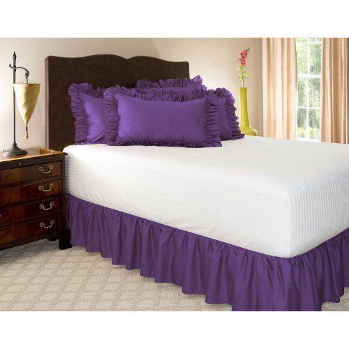 Twin Xl Grape Ruffled Bed Skirt With 14 Drop Shop Bedding Http Www Amazon Com Dp B000tssyco Ref Cm Sw R Pi Dp Rizvub015yc2n Blue Bedding Bedskirt Bed