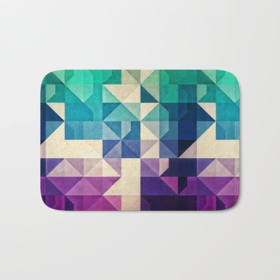 pyrply Bath Mat by Spires. Worldwide shipping available at Society6.com. Just one of millions of high quality products available.