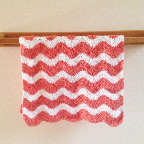 Coral And White Hand Towel Or Bathroom Rug By Mycrochetkitchen Bebek