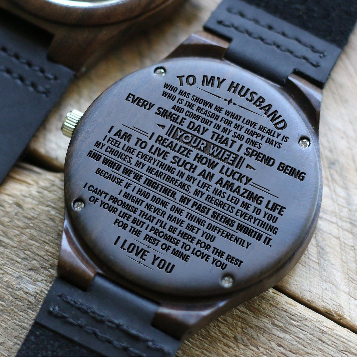 W1560 You Are My Choice For Husband Engraved Wooden Watch Thoughtful Gifts For Him Surprise Gifts For Him Wooden Watch Engraved