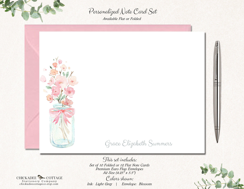 Set of 10 Flower card