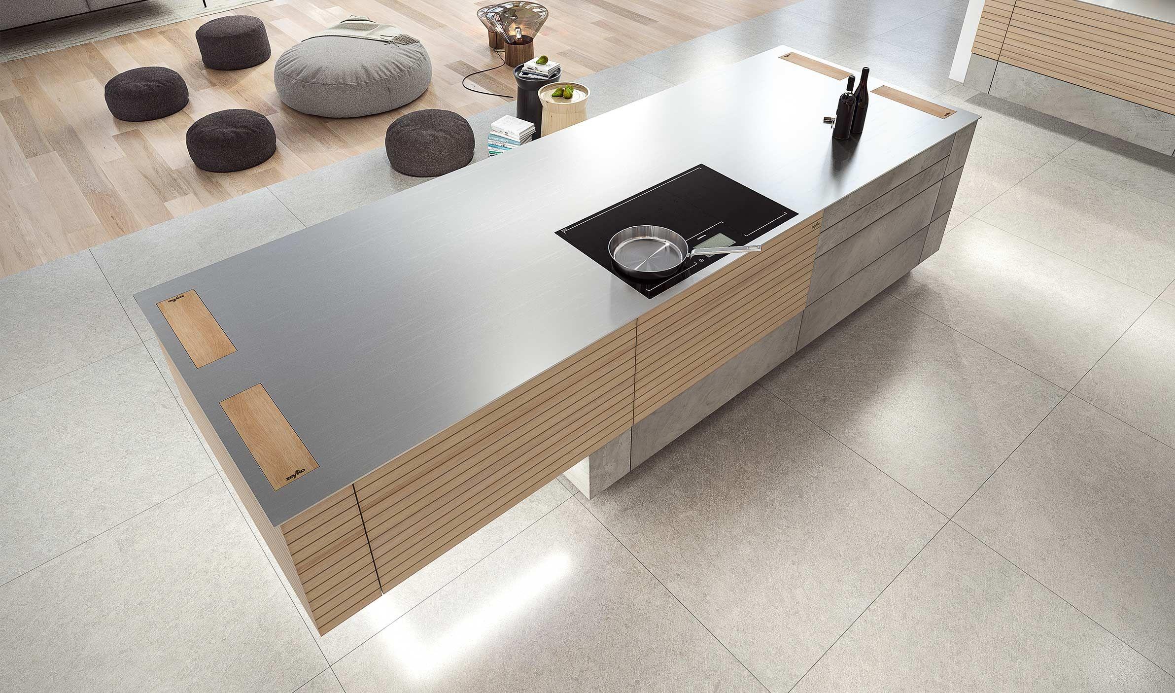Woodline.one + Forum Stucco superhell II | zeyko Küchen | Küchen ...