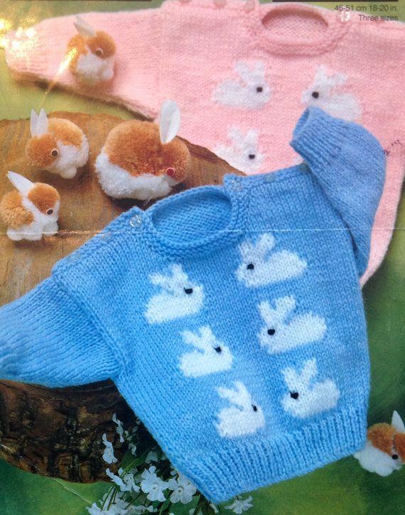 instant download Bunny rabbit hat knitting pattern DK pdf