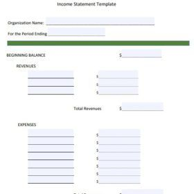 quarterly income statement template free templates pinterest