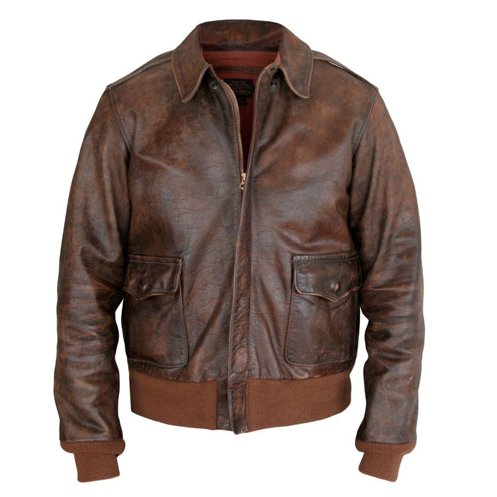 hell im Glanz günstig kaufen Online-Verkauf RRL Ralph Lauren $1600 worn-brown leather bomber double rl A ...