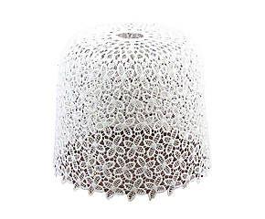 Paralume per lampadario effetto uncinetto - 20x25 cm