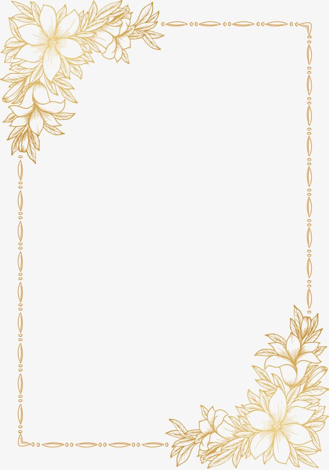 Cool Border Wedding Card Vector Png