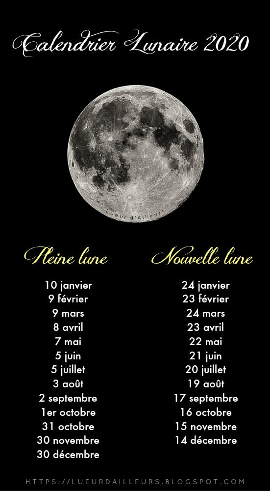 Calendrier lunaire 2020 : dates des nouvelles lunes et pleines