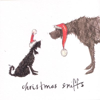Christmas sniffs greeting card illustration by sam toft perros 3 christmas sniffs greeting card illustration by sam toft m4hsunfo