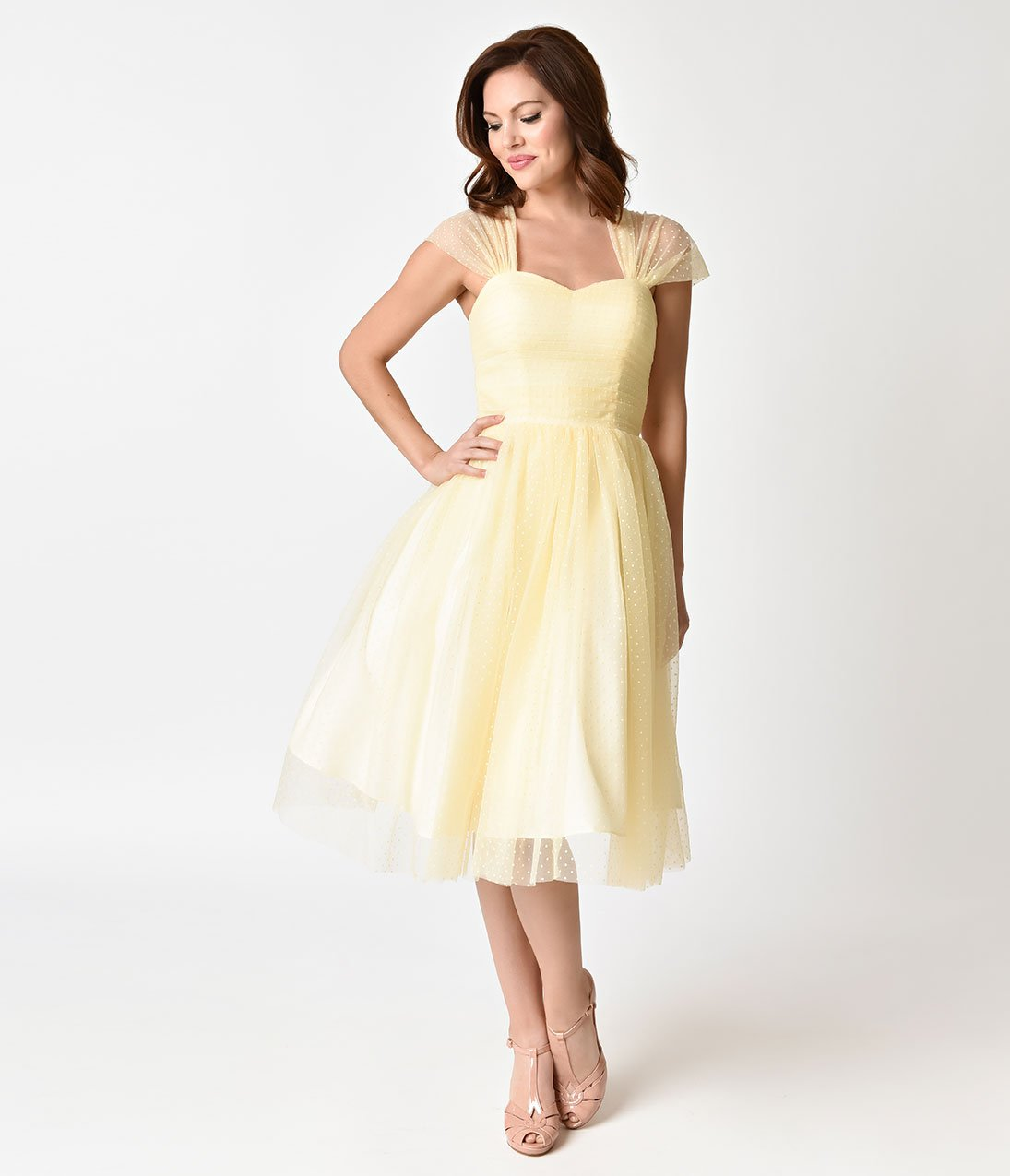 You Bring The Charm We Ll Bring The Sweet This Gorgeous Buttercup Yellow Swiss Dotted Dress Will Giv Mesh Cocktail Dress Cocktail Dress Yellow Unique Dresses [ 1275 x 1095 Pixel ]