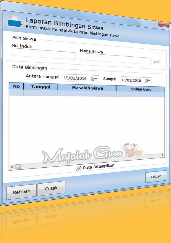 Software Aplikasi Bimbingan Konseling Lengkap Dengan Cetak Laporan