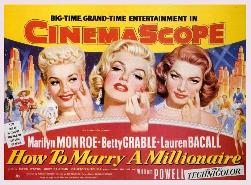 How to Marry a Millionaire starring Lauren Bacall, Marilyn Monroe ...