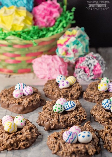 The Double Chocolate Easter Basket Cookies that need to go on your Must Make…