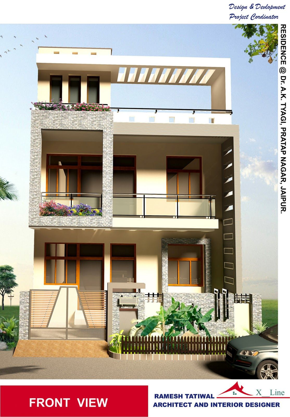 Astonishing Indian Home Architecture Design Of Jpg 1114 1600 Small House Architecture Simple House Duplex House Design