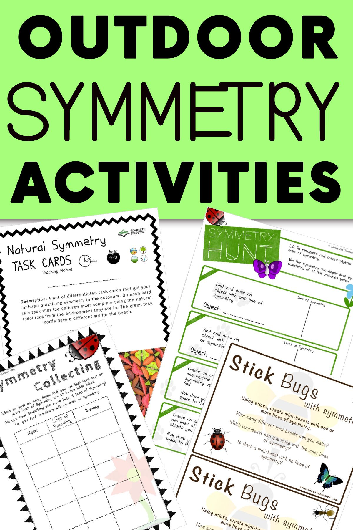 Outdoor Symmetry Activities With Images
