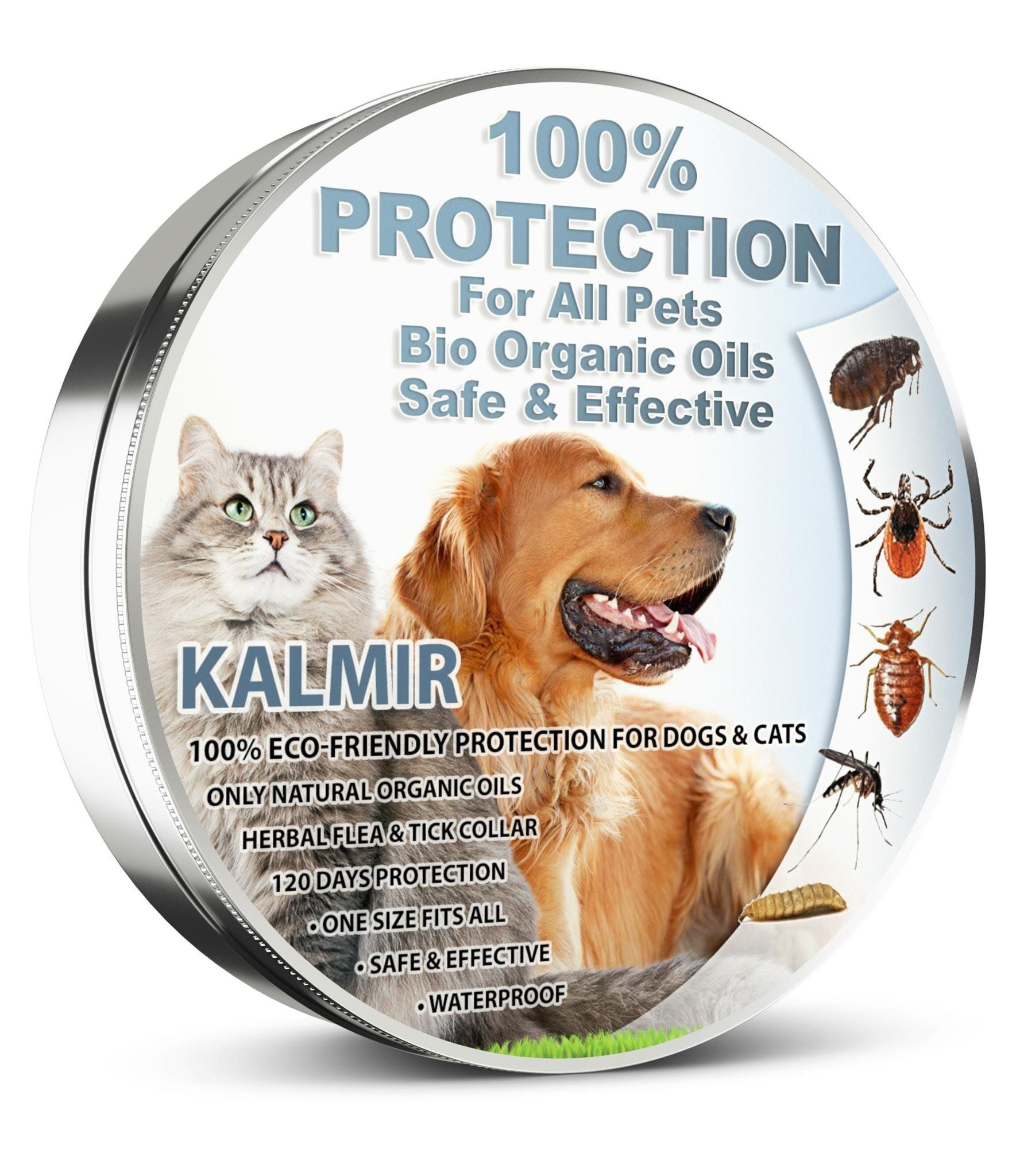 Flea Tick Collar Prevention Control For Dogs Cats Natural Herbal Nontoxic Adjustable Flea Collar Waterproof Protection Cat Fleas Small Pet Supplies Small Pets