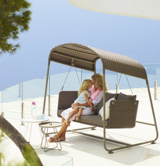 3 seater #garden swing seat cave by @cane-line #outdoor #summer,