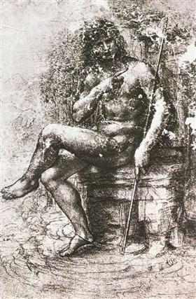 Study for St. John in the Wilderness - Leonardo da Vinci