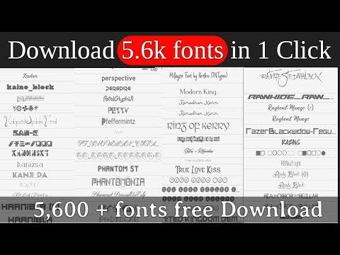 Download 5000+ fonts pack free download || full unzip proccess ...
