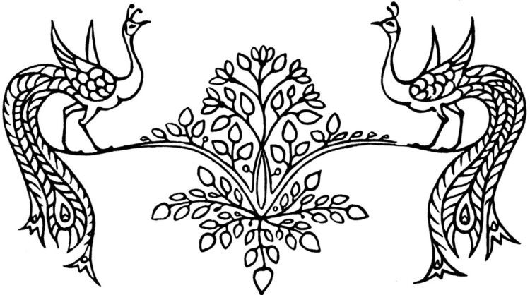 Ragam Hias Flora Dan Fauna Qwsq Flora Moose Art Pyrography