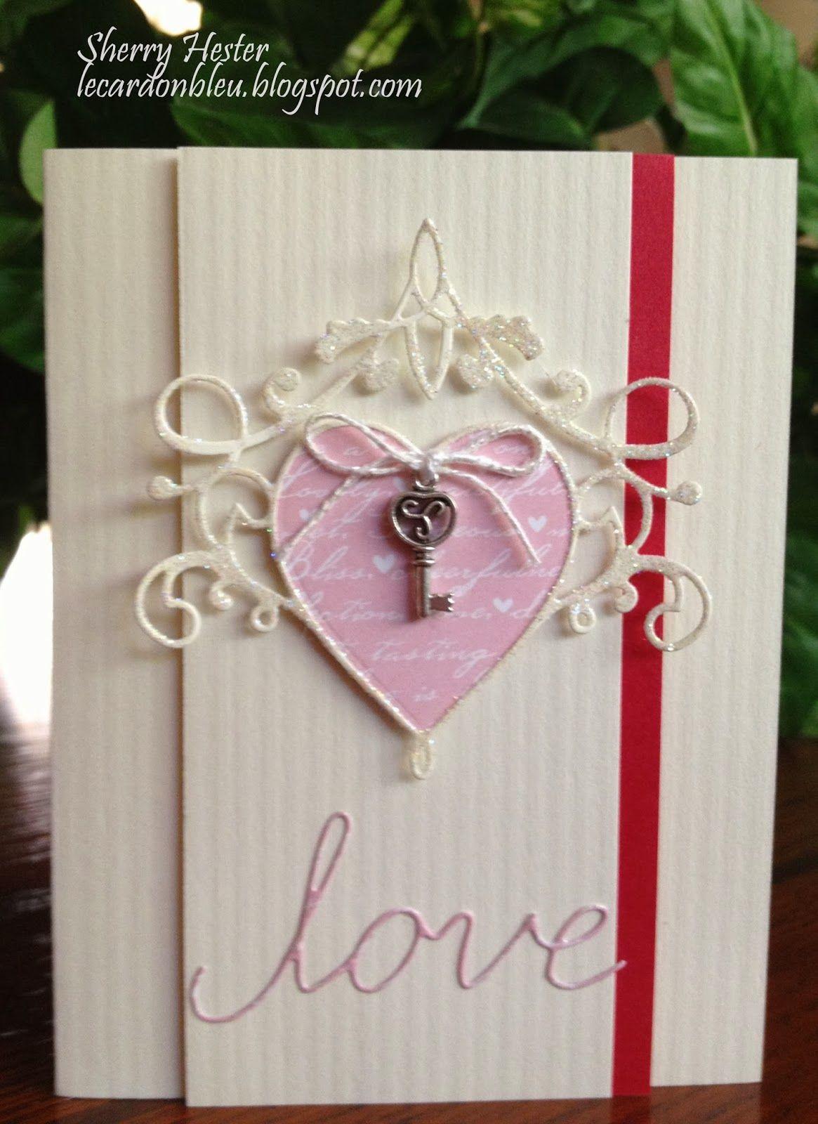 Le Cardon Bleu Valentine love cards, Cards handmade