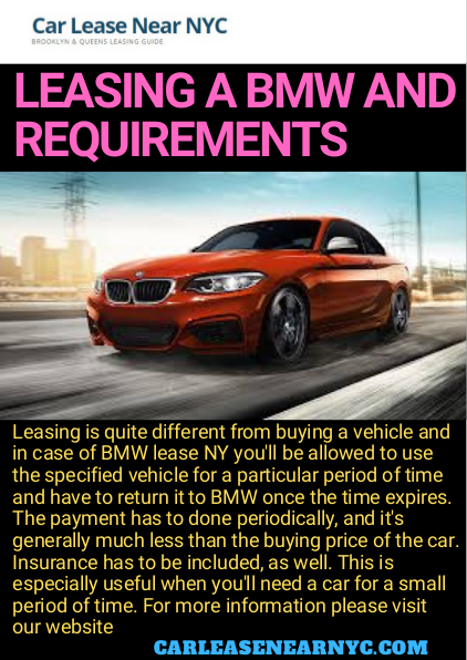 Leasing Is Quite Different From Buying A Vehicle And In Case Of