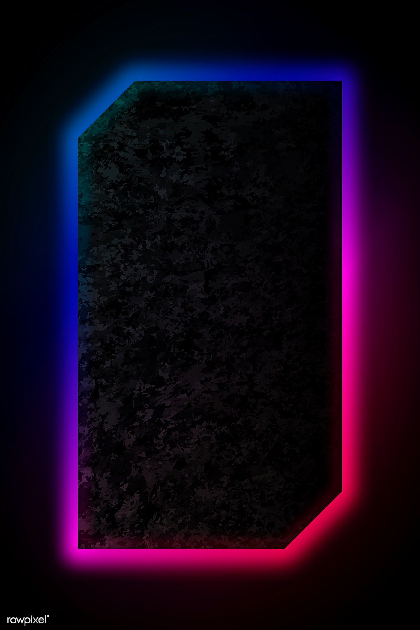 Download premium vector of Blue and pink neon light frame