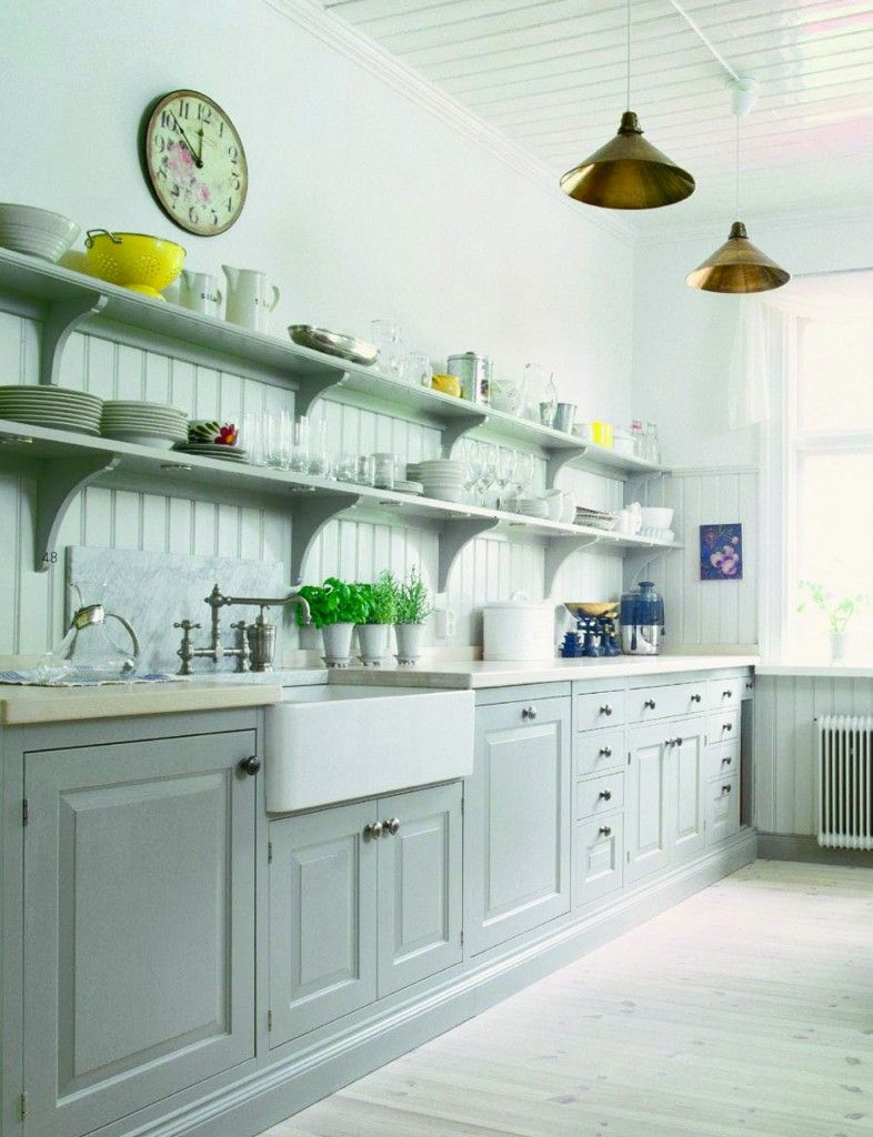 25+ Open Shelving Kitchens | Herbs garden, Shelving and Sinks