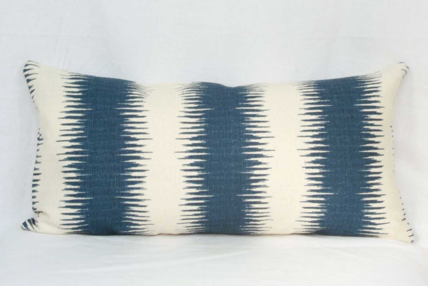 16X26 Pillow Insert Fair Blue Natural Tribal Stripe Throw Pillow Cover 12X20 12X24 14X24 Design Inspiration