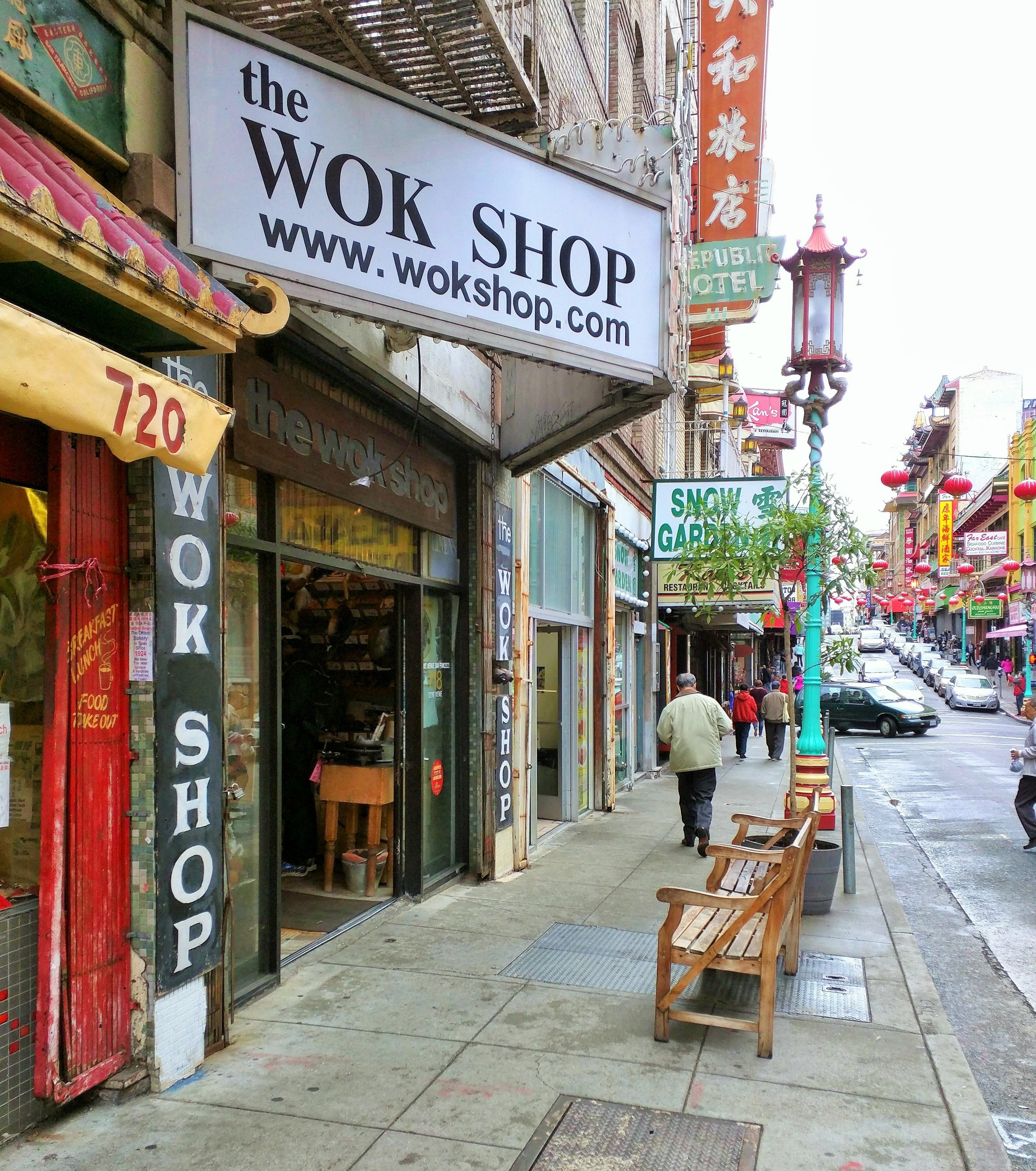 the wok shop in china town san francisco and how to season a