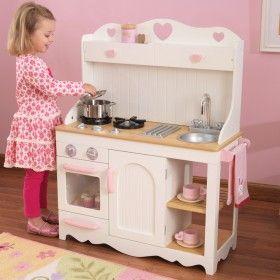 Prairie Wooden Play Kitchen. | Children\'s Wooden Toy Kitchen Play ...