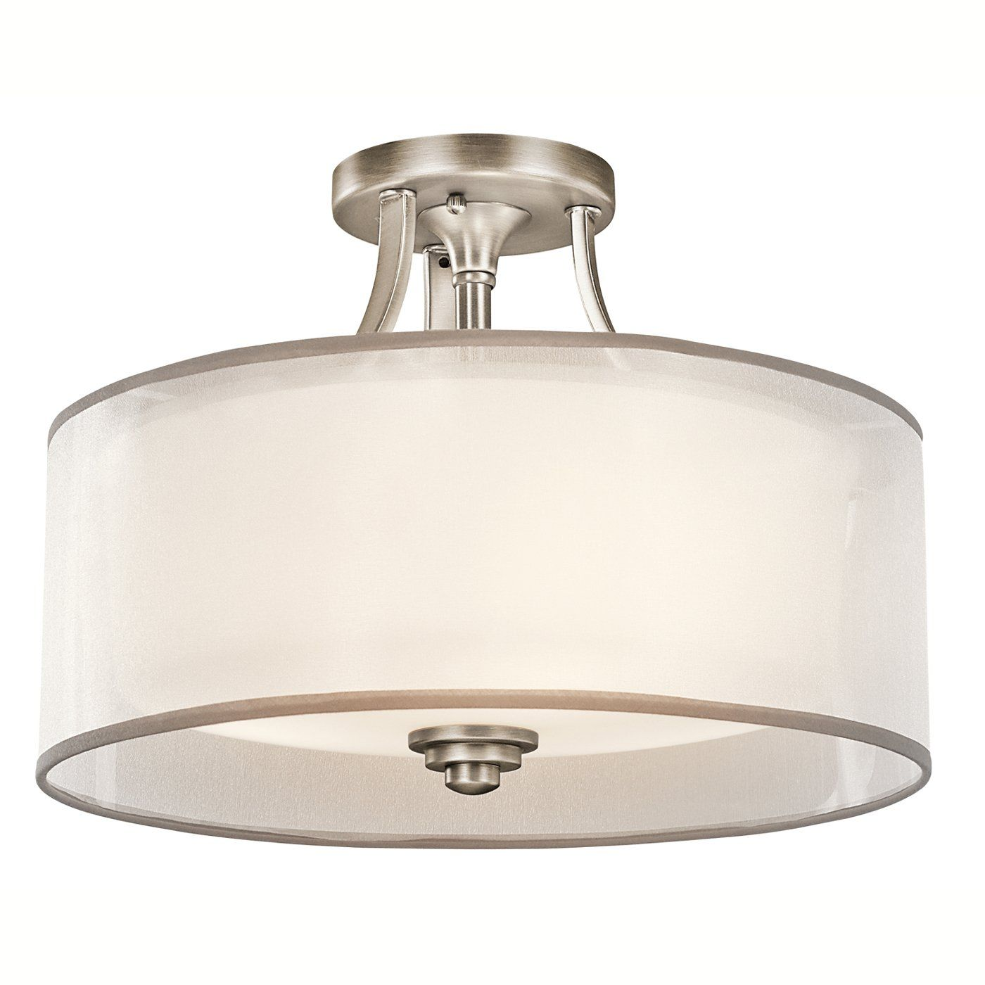 Shop Kichler Lighting 42386 3 Light Lacey Medium Semi Flush