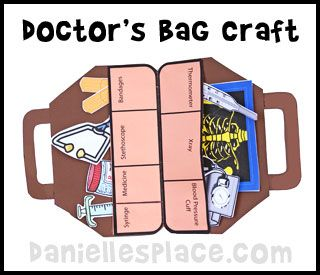 Doctor 39 s bag craft and learning activity from www for Doctor bag craft template