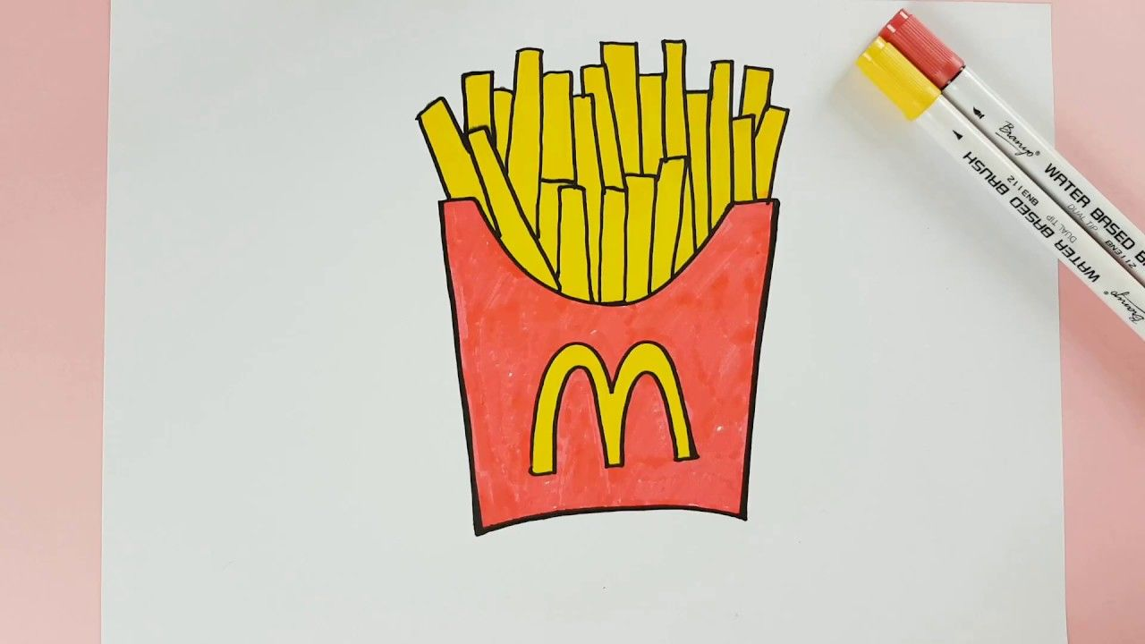 How To Color Mcdonald French Fries Kids Coloring Page Mcdonald