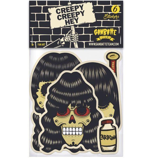 Creepy creepy hey ramones stickers magnets