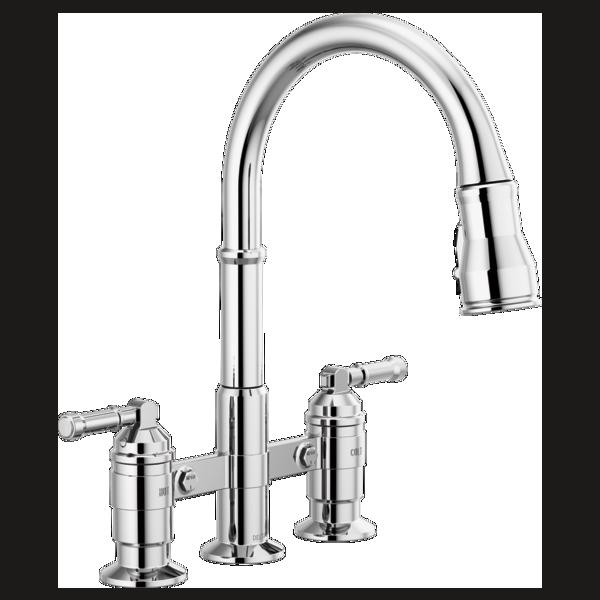 Two Handle Pull Down Bridge Kitchen Faucet 2390l Dst Kitchen Faucet Delta Kitchen Faucet Faucet Two handle pull down kitchen faucet