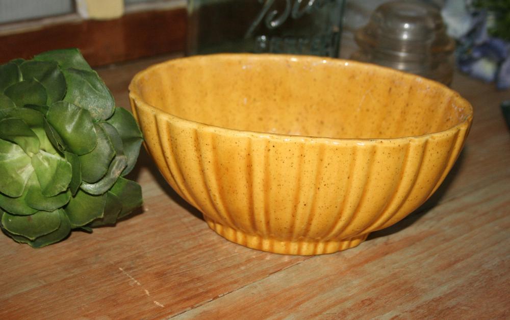 Vintage Haeger Mustard Yellow Planter Mid Century Oval Ceramic