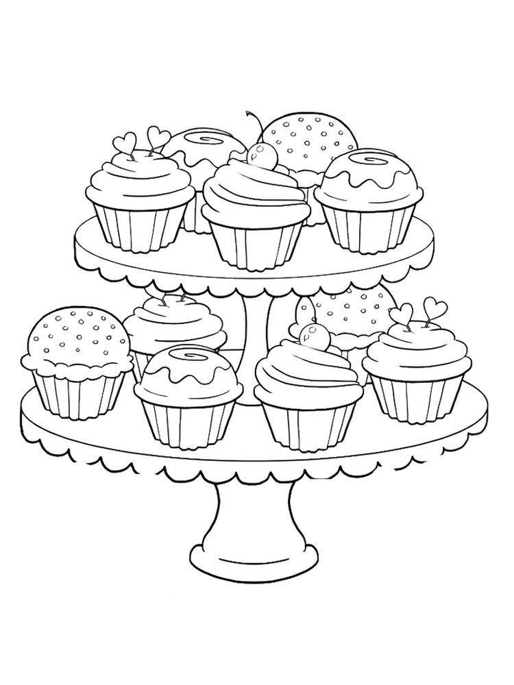 Paginas Para Colorear De Cupcake Para Ninos Cupcake Es Un Pastel En Una Taza Un Pequeno Pastel Para Cool C Boyama Sayfalari Cizimler Boyama Kitaplari