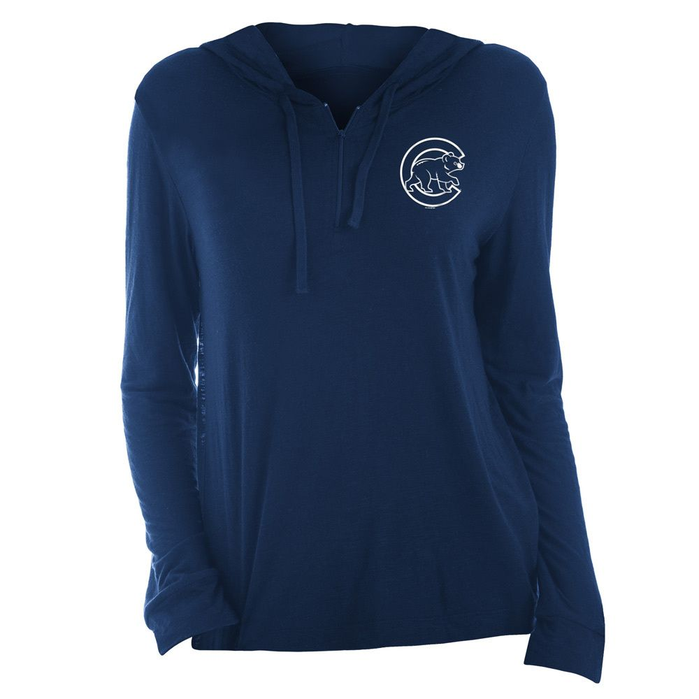 Chicago Cubs Women S 1 2 Zip Pullover Hoodie By New Era Apparel Chicago Cubs Womens Pullover Hoodie Pullover [ 1000 x 1000 Pixel ]