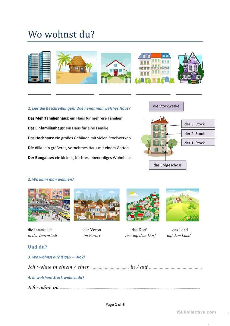 Wohnen, Zimmer, Möbel, zusammengesetzte Nomen | Language
