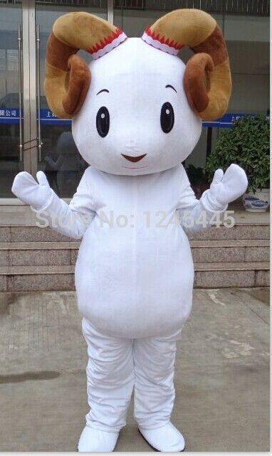 Quality hand made white mascot costume goat costume sheep costume adult sheep costume #sheepcostume >> Click to Buy > Click to Buy